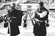 Doshin So (left), founder of Japanese Shorinji Kempo
