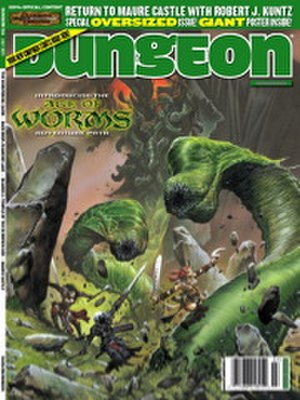 Age of Worms - Front cover of Dungeon Issue 124 (July 2005), illustrated by Wayne Reynolds, which featured the first chapter of Age of Worms.