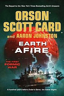 <i>Earth Afire</i> book by Orson Scott Card