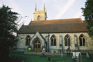 St Mary's Church, Ewell - Image: Ewell St Mary from S 01
