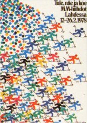 FIS Nordic World Ski Championships 1978 - Image: FIS Nordic WSC 1978 poster