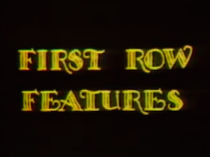 First Row Features - Title card