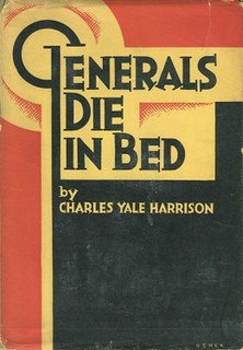 <i>Generals Die in Bed</i> book by Charles Yale Harrison