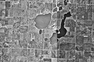 Graham Lakes Township, Nobles County, Minnesota - Satellite Photo of Graham Lakes, MN