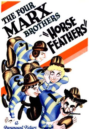 Horse Feathers - Poster by Al Hirschfeld