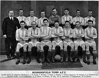 Herbert Chapman - Chapman (standing far left), with the Huddersfield Town team of 1921–22, the season they first won the FA Cup.
