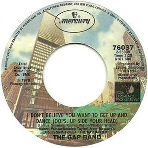 Oops Up Side Your Head - Image: I Don't Believe You Want to Get Up and Dance (Oops Up Side Your Head) US vinyl 7 inch