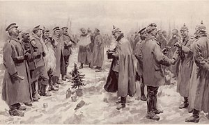 Christmas truce - Image: Illustrated London News Christmas Truce 1914