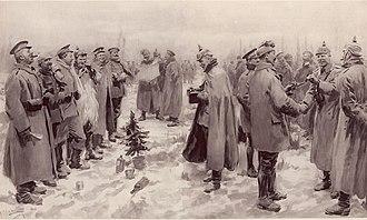 Christmas truce - Image: Illustrated London News Christmas Truce 1914