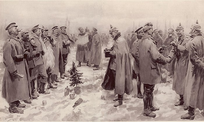 Illustrated London News - Christmas Truce 1914., From WikimediaPhotos