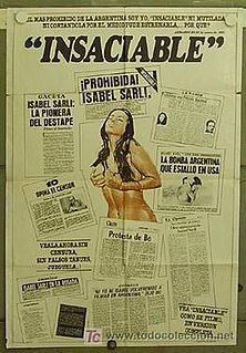 <i>Insaciable</i> 1976 film by Armando Bó