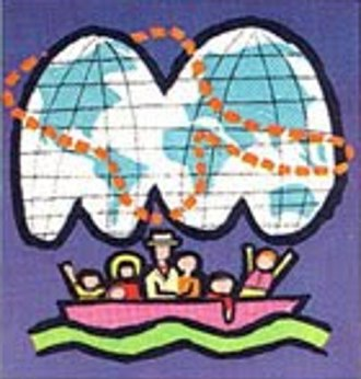 "It's a Small World - 1964 World's Fair ""It's a Small World"" ticket, logo portion"