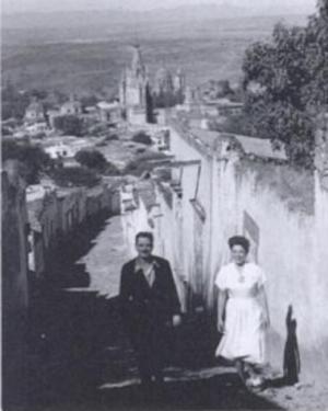 Reva Brooks - Leonard and Reva Brooks in San Miguel de Allende in 1948
