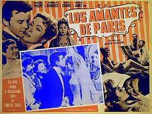 Lovers of Paris - Mexican poster for the film
