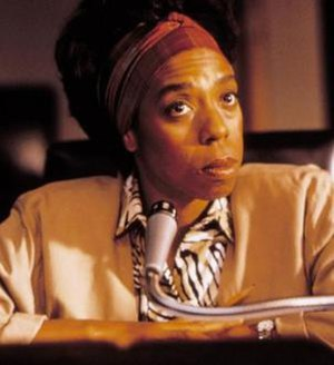 Lynne Thigpen - Thigpen as Miss Barrett in the 1989 dramatized biographical film Lean On Me
