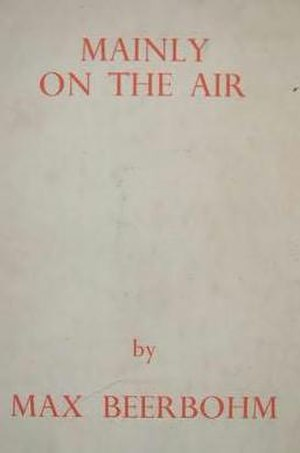 Mainly on the Air - Cover of the first British edition of Mainly on the Air (1946)