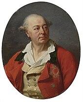 Portrait ovale d'un homme au manteau rouge portant l'Ordre de Saint-Hubert, une étoile à l'émail rouge.
