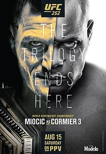 UFC 252: Miocic vs. Cormier 3 Fight Poster