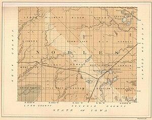 Buffalo Ridge - Image: Nobles county map
