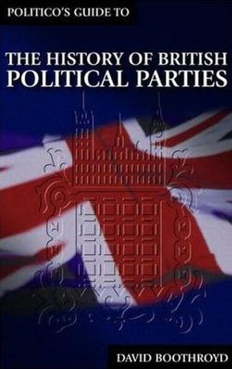 The History of British Political Parties - Book cover