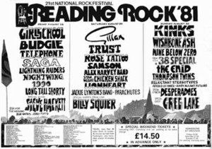 Girlschool - Headlining the Friday night of the 1981 Reading Festival was the highlight of Girlschool's career