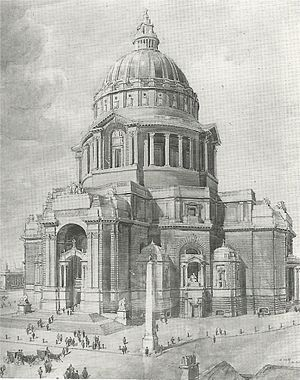 Charles Herbert Reilly - Reilly's 1902 design for Liverpool Cathedral