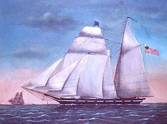 Ingham incident - A Morris-Taney class cutter, possibly the USRC Ingham.