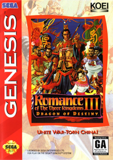 <i>Romance of the Three Kingdoms III: Dragon of Destiny</i> video game