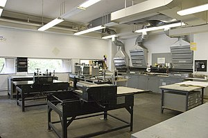 School of the Art Institute of Chicago - The Etching Room, with etching presses and workstations