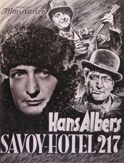 <i>Savoy Hotel 217</i> 1936 film by Gustav Ucicky, Eduard von Borsody