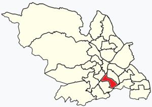 Gleadless Valley (ward) - Image: Sheffield wards Gleadless Valley