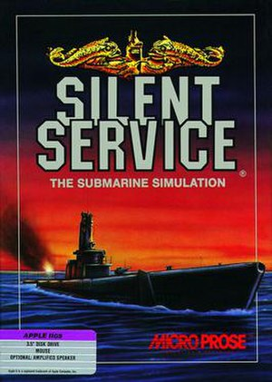 Silent Service (video game) - Cover art by David Phillips