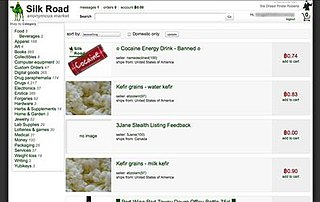 Silk Road (marketplace) 2011–2014 darknet market known for the sale of illegal drugs