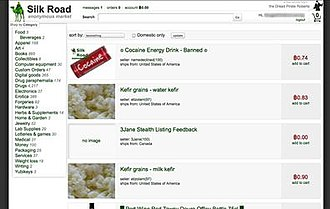 Silk Road (marketplace) - Image: Silk Road Marketplace Item Screen