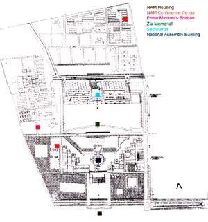Muzharul Islam - Site Plan for Sher-e-Bangla Nagar