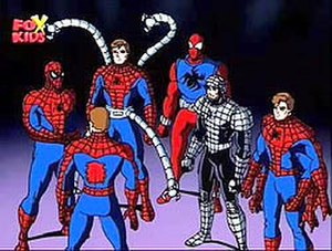 Clone Saga - The Six Spider-Men that join to defeat Spider-Carnage in Spider Wars.