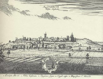 Sundgau - Engraving of Altkirch in the 18th century
