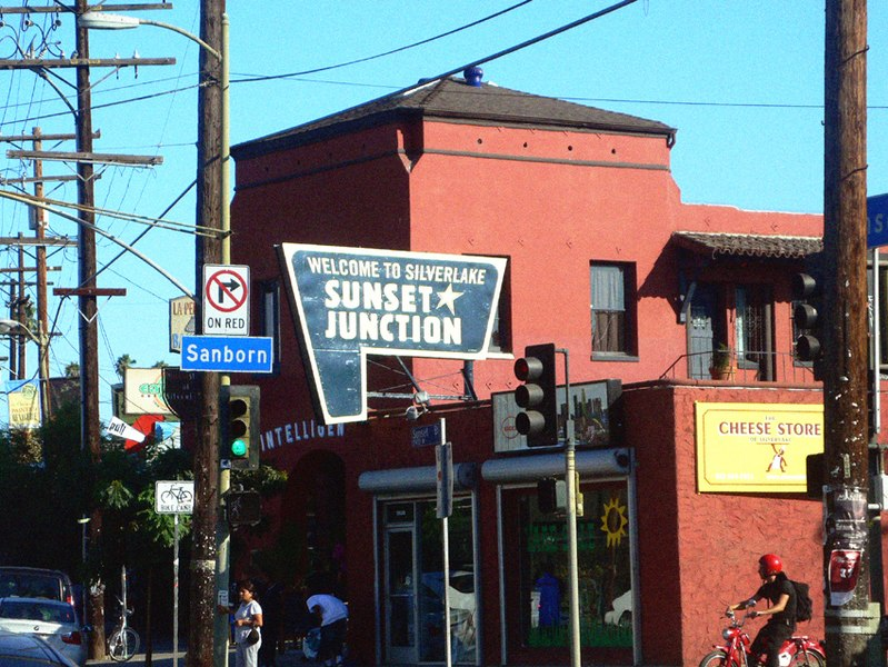The Sunset Junction in Silver Lake, California