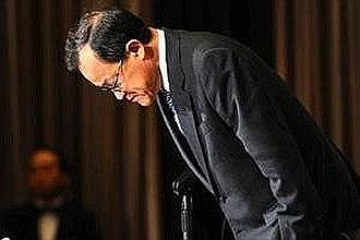 Olympus scandal - Image: Takayama bows