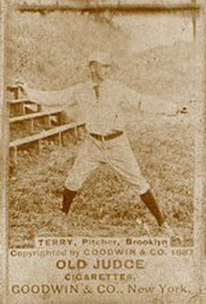 Adonis Terry - An early tobacco card of Adonis Terry