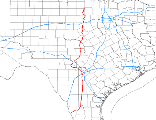 TalkTexas State Highway Wikipedia - Us map without texas