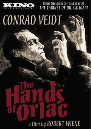 The Hands of Orlac (1924 film) - Image: The Hands of Orlac Video Cover