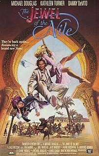<i>The Jewel of the Nile</i> 1985 adventure comedy film by Lewis Teague