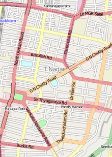chennai t nagar map T Nagar Wikipedia chennai t nagar map