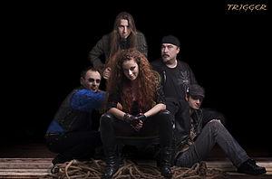 Trigger (band) - Trigger, clockwise: Petar Popović, Marko Antonić, Milena Branković, Zoran Jović, Dušan Svilokos Đurić