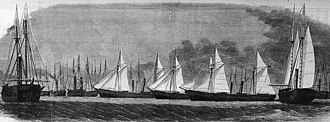 USS Sagamore (1861) - Sagamore is the ship at extreme right.
