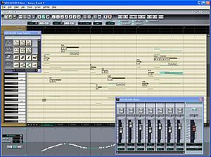 Vocaloid - Screenshot of the software interface for Vocaloid