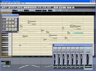 Vocaloid - Screenshot of the software interface for Vocaloid
