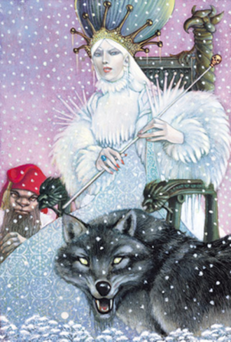 White Witch - Jadis, the White Witch. Art by Leo and Diane Dillon.
