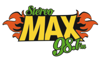XHMAXX-FM - Image: XHMAXX stereomax 98.1 logo